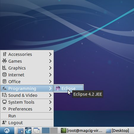 Linux Lubuntu Eclipse Launcher Inserted into Applications Menu