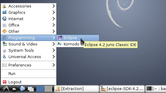 Install Eclipse Standard on Debian Linux - Lxde Eclipse Launcher