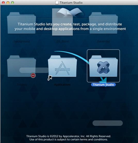 Install Appcelerator Titanium Studio Mac OS X 10.10 Yosemite - Installing
