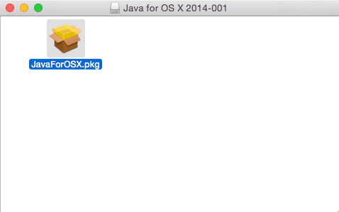 Installing Apple Java 6 for Mac OS X 10.10 Yosemite - run package