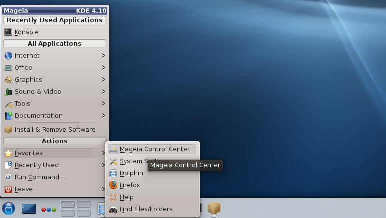 Mageia KDE4 Control Center