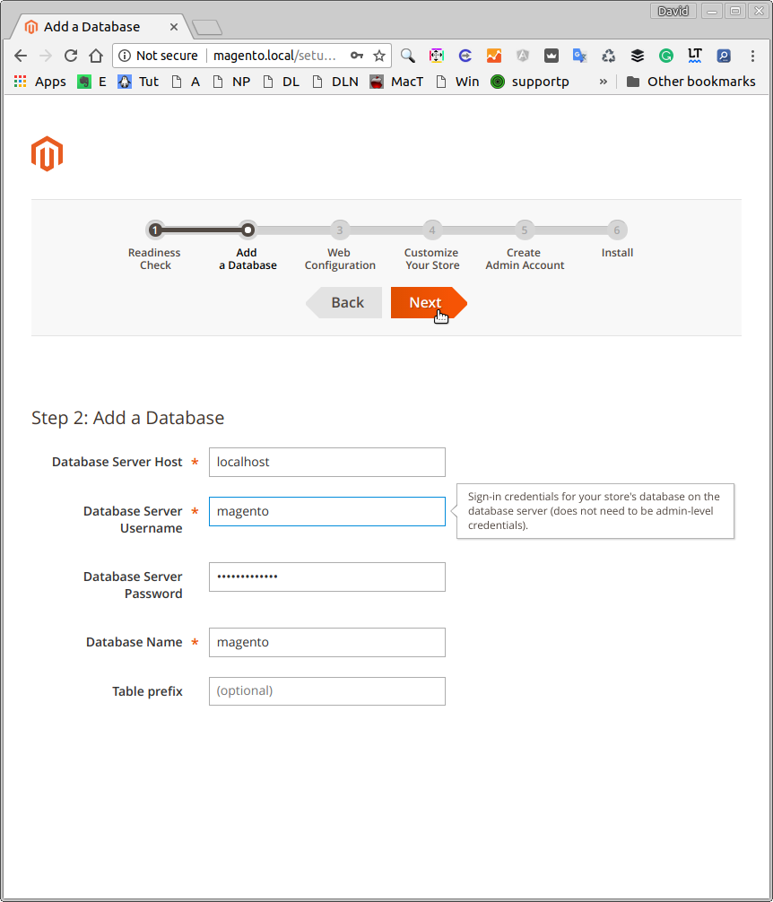 Magento 2 Ubuntu 16.04 Installation Guide - Database Configuration