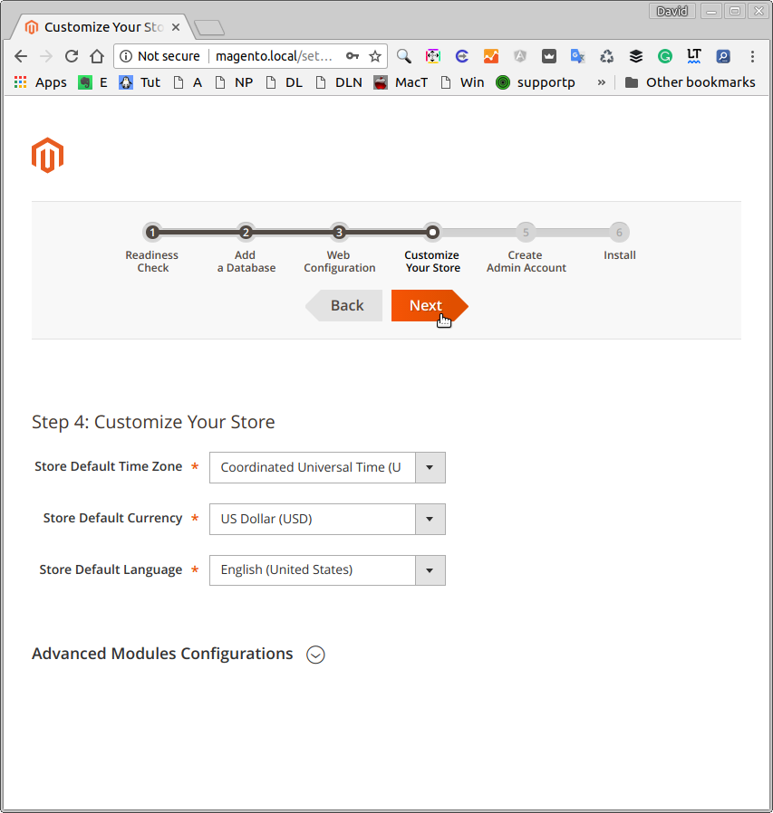 Magento 2 Ubuntu 16.04 Installation Guide - Customize Store
