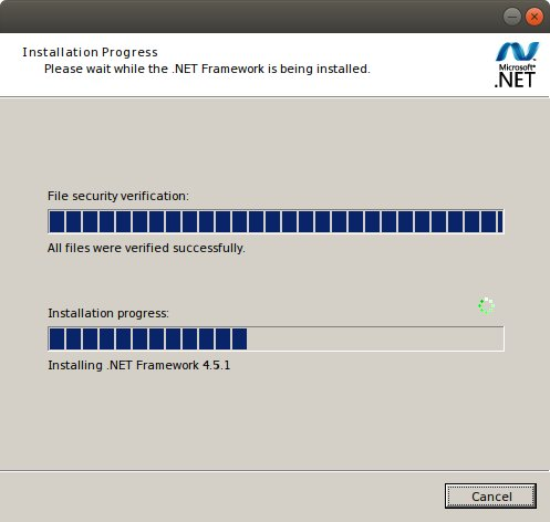 How to Install .NET 4.5 Ubuntu 17.10 with Wine - Confirm Installation