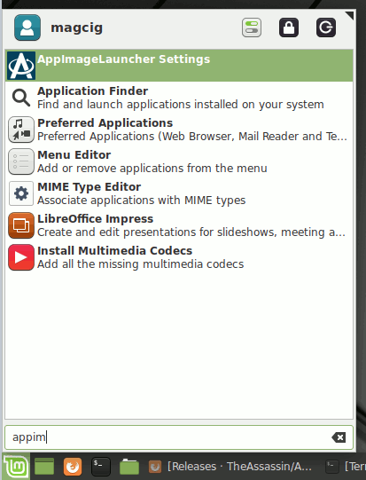 Step-by-step AppImageLauncher Linux Mint 20 Installation Guide - Launcher