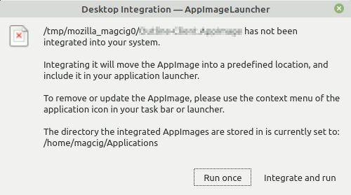 Step-by-step Slic3r Mageia Installation Guide - AppImageLauncher Desktop Integration