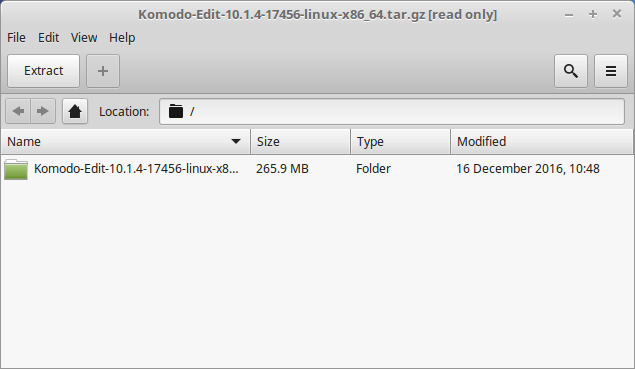 Linux Mint 13 Mate Komodo Extraction