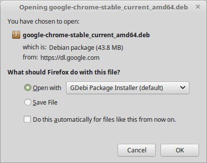 How to Install Chrome on Linux Mint 19.x Tara/Tessa/Tina/Tricia Cinnamon LTS - GDebi Installing Chrome .deb Package