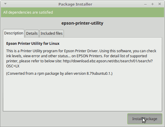 How to Download and Install Epson XP-442|XP-445 Driver for Linux Mint 18 -  Start Installation