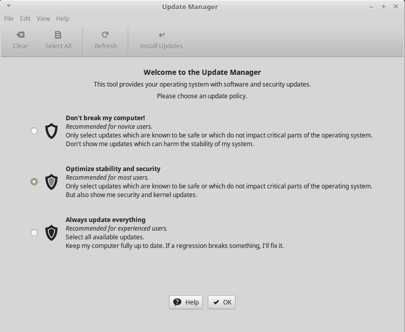How to Upgrade from Linux Mint 18 Sarah to Linux Mint 18.1 Serena - Update Policy