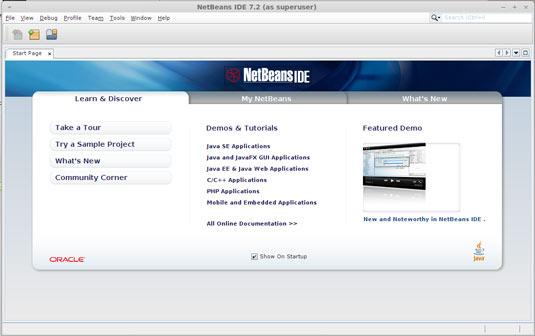 Linux Zorin Netbeans 7.2 IDE