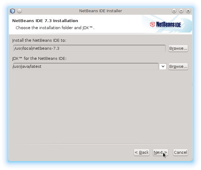 Ubuntu Linux Netbeans Set Installation Location