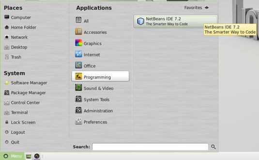 Linux Mint 14 Mate Start Netbeans 7.3+ IDE