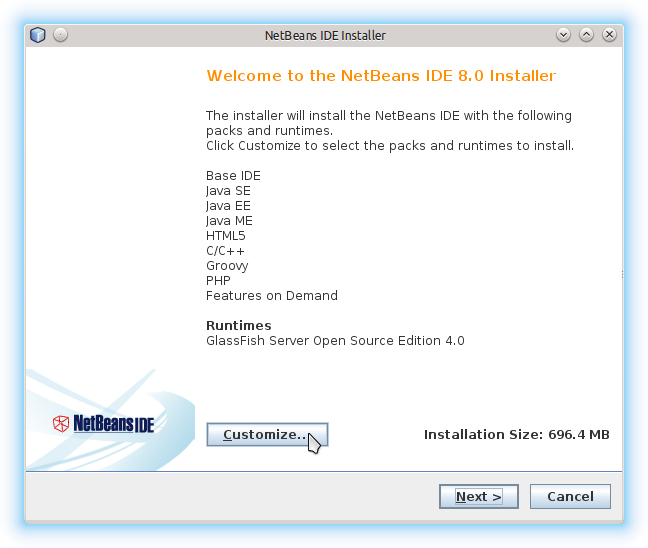 Getting-Started with Netbeans 8.x IDE All on Lubuntu 14.10 Utopic - Customize