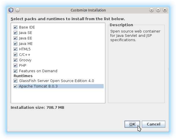 Getting-Started with Netbeans 8.x IDE All on Lubuntu 14.10 Utopic - Select Apache Tomcat 8