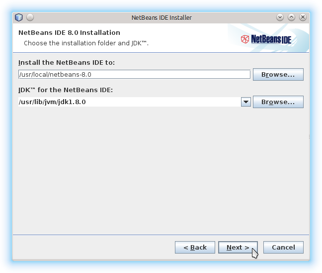 Getting-Started with Netbeans 8.x IDE All on Lubuntu 14.10 Utopic - Set NetBeans and Jdk Location