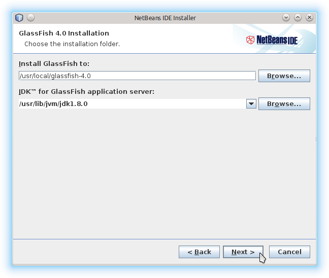 Getting-Started with Netbeans 8.x IDE All on Lubuntu 14.10 Utopic - Glassfish 4 Paths