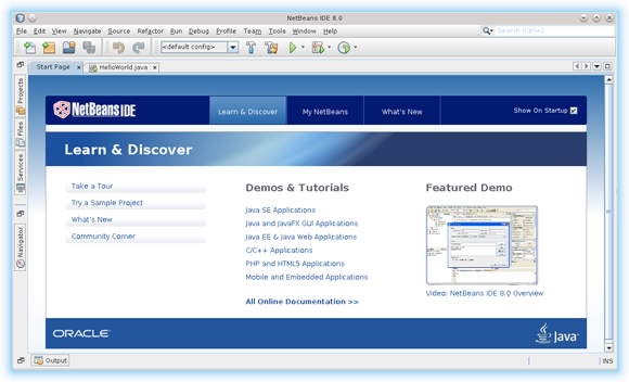 Install Netbeans 8.x IDE All on Lubuntu 14.10 Utopic - NetBeans 7.4 Java IDE