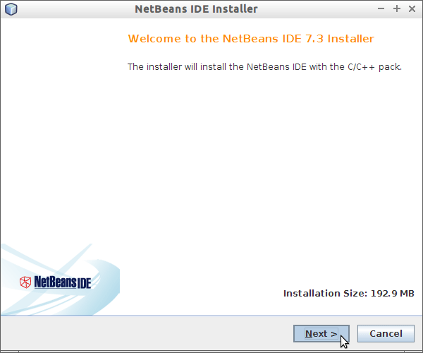 Install NetBeans for C Gentoo Linux - Installation Accept License