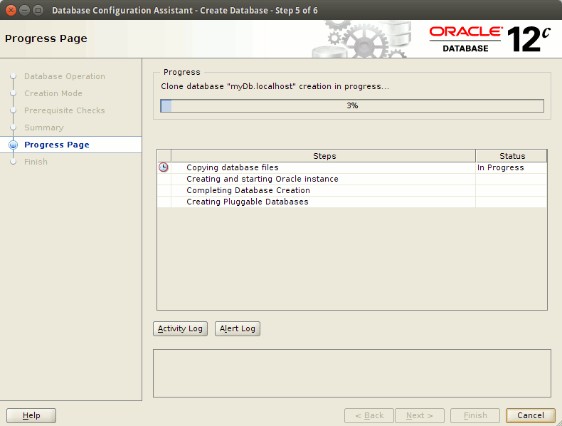 How to Create a Database Oracle 12c - creating