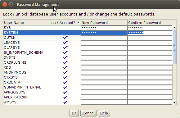 How to Create a Database on Oracle 12c - Setting Admin Passwords