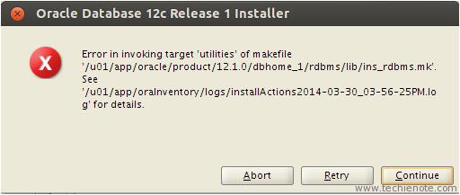 Oracle 12c Database Linux Installation TroubleShooting