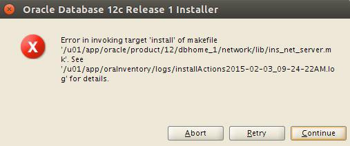Solving Oracle 12c Database Errors on Ubuntu 16.10 Yakkety - ins_net_server.mk Issue
