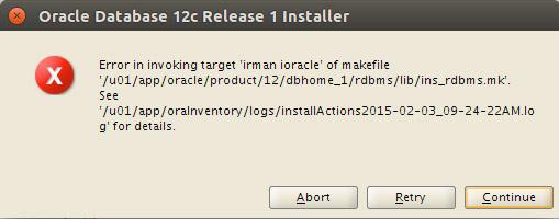 Solving Oracle 12c Database Errors on Ubuntu 16.10 Yakkety - irman ioracle Issue
