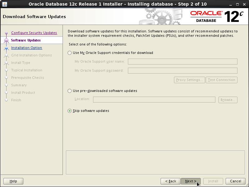 Oracle Database 12c R1 Installation for RHEL Red Hat Enterprise 6.x Linux Step 2 of 13