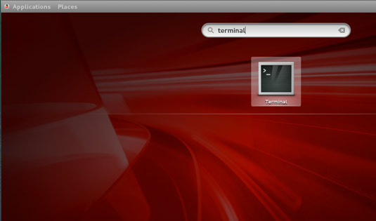 How to Install Photoshop CS6 on Oracle Linux 7 - Open Terminal