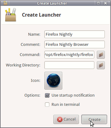 Xfce Launcher Ready 2 Create