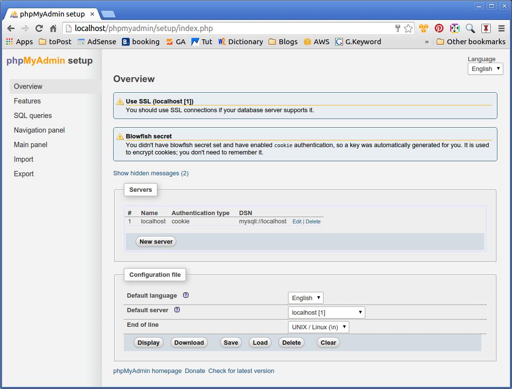 Phpmyadmin Quick Start Elementary OS - Configured MySQL Server