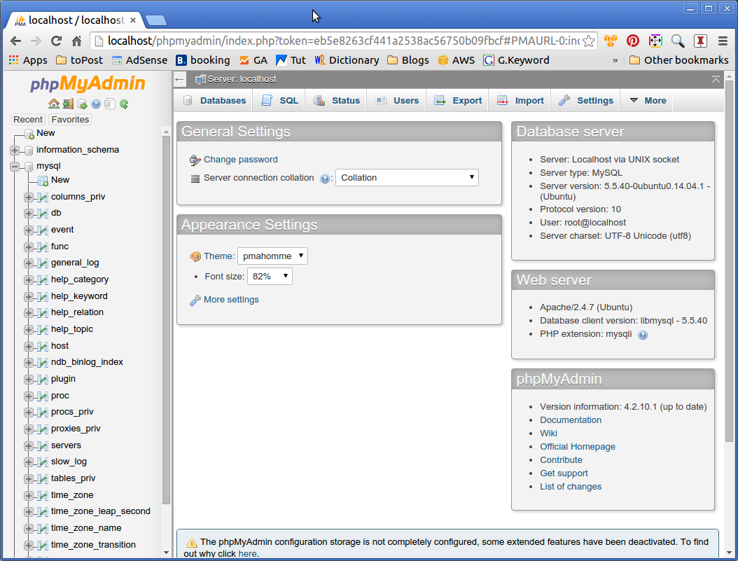 Phpmyadmin Quick Start Elementary OS - PhpMyAdmin MySQL Manager Backend