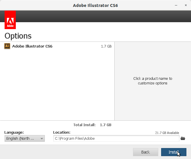 How to Install Adobe Illustrator CS6 in RedHat Linux - 7 Adobe Illustrator CS6 Installer