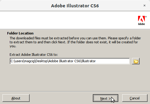 How to Install Adobe Illustrator CS6 in RedHat Linux - 1 Adobe Illustrator CS6 Installer