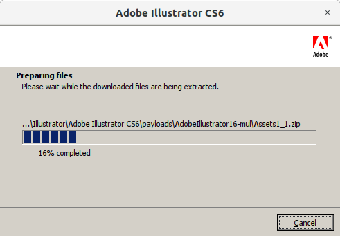 How to Install Adobe Illustrator CS6 in RedHat Linux - 2 Adobe Illustrator CS6 Installer
