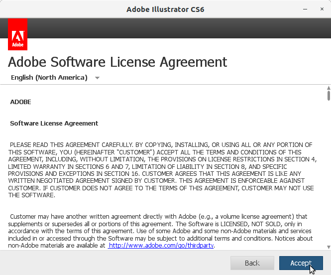 How to Install Adobe Illustrator CS6 in RedHat Linux - 4 Adobe Illustrator CS6 Installer
