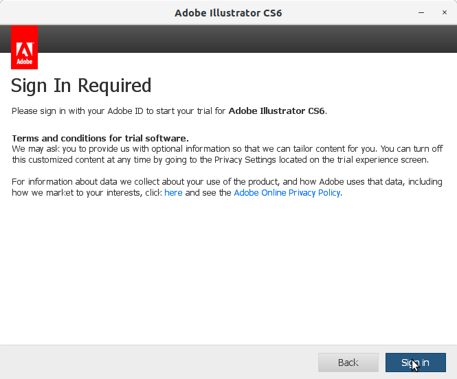 How to Install Adobe Illustrator CS6 in RedHat Linux - 5 Adobe Illustrator CS6 Installer