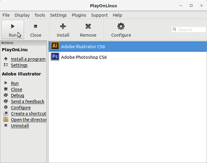 How to Install Adobe Illustrator CS6 in RedHat Linux - PlayOnLinux Running Adobe Illustrator CS6