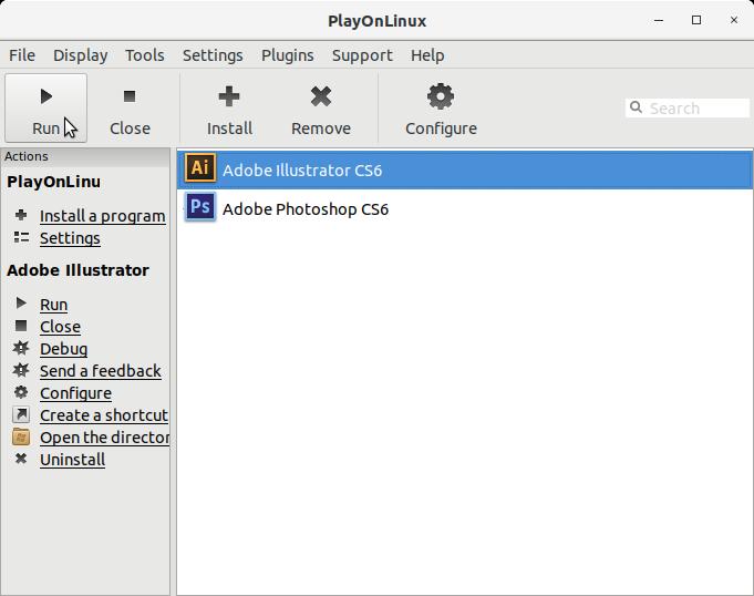 How to Install Adobe Illustrator CS6 in Elementary OS Linux - PlayOnLinux Running Adobe Illustrator CS6