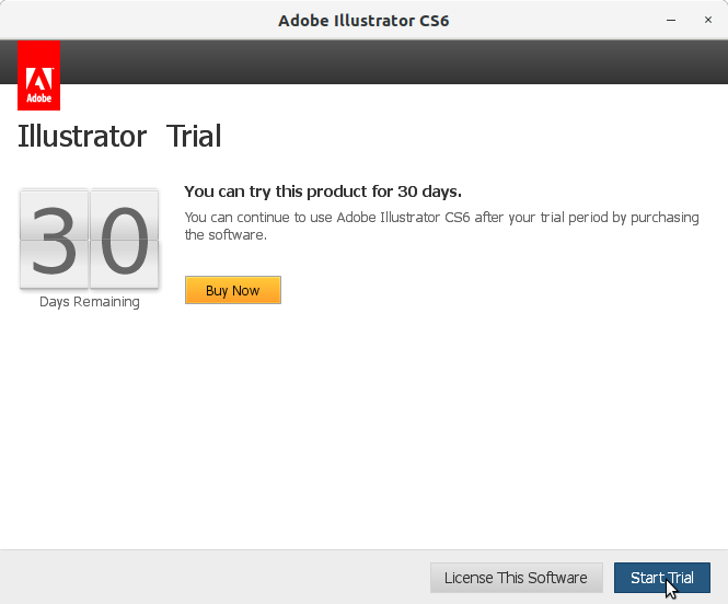 How to Install Adobe Illustrator CS6 in RedHat Linux - Start Trial