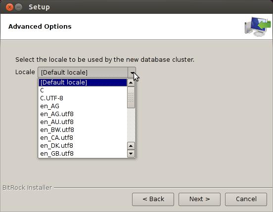 Debian Stretch 9 Install PostgreSQL 9.X - setup locale