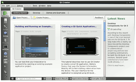 Installing QT5 SDK Starting QT Creator