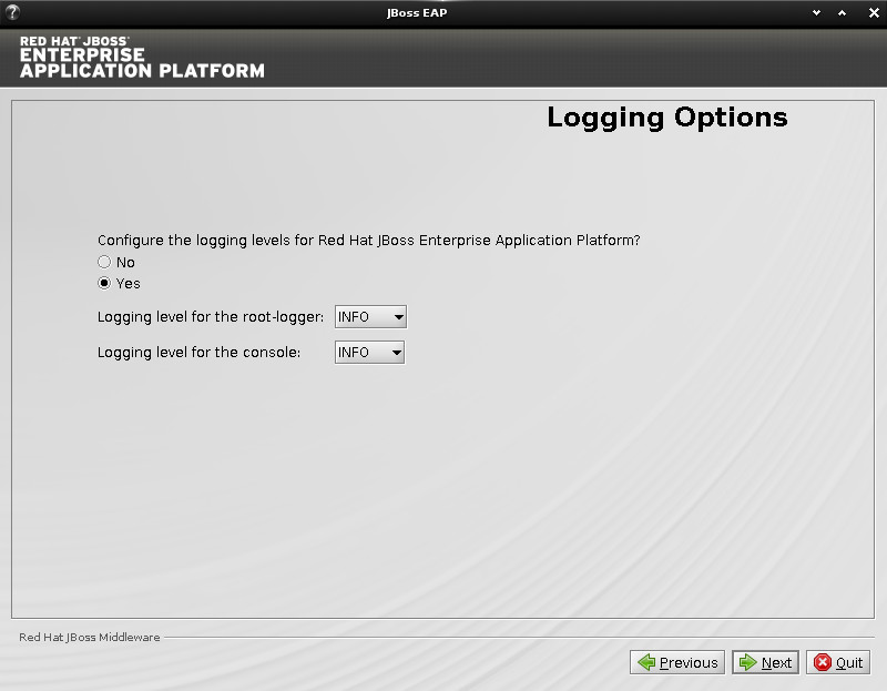 JBoss EAP Installation on Ubuntu 14.10 Utopic Linux - Logging