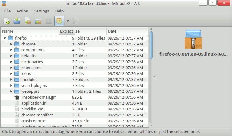 Install Firefox Nightly on PCLinuxOs 2013.10 - Extract Firefox Archive