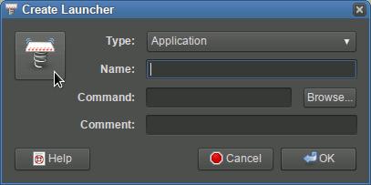 Linux Sabayon 11 Main Menu Create Launcher Select Icon