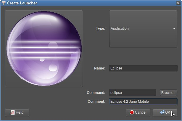 Linux Sabayon 11 Main Menu Created New Launcher
