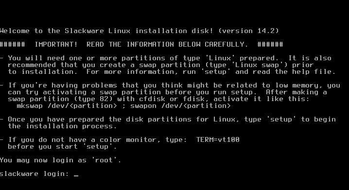 How to Install Slackware 14.2 Dual Boot Windows 10 - Root Login