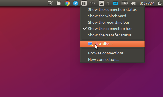 Quick-Start NoMachine Client Remote Desktop Connection on CentOS - Select Connection