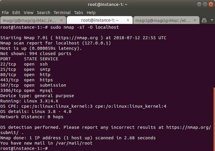 Debian Stretch 9 Test if Port is Open - List of Open Ports